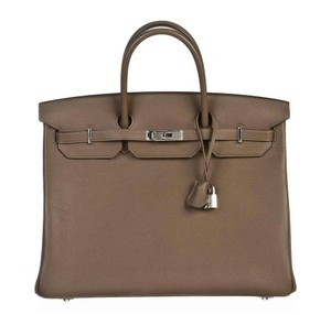 Hermès Togo Leather Birkin 40 Birkin Phw Satchel in Taupe