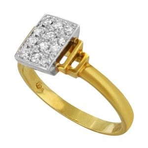 Saya Saya 18k Yellow & White Gold 0.16 Cttw Diamonds (12726)