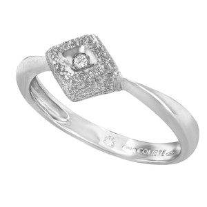 Saya Saya 18K White Gold & 0.02 Cttw Diamond (12728)