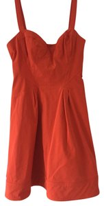 Zac Posen short dress orange on Tradesy