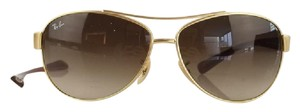 Ray-Ban Gold and Purple Aviator-Inspired Sunglasses