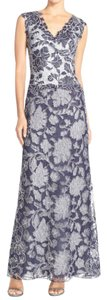 Tadashi Shoji Navy Blue Navy Blue Lace Formal Gown Dress