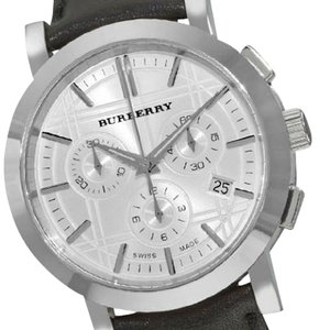 Burberry Burberry Heritage Gent Silver Chronograph Dial Men's Watch BU1361