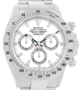 Rolex Rolex Cosmograph Daytona White Dial Stainless Steel Mens Watch 116520