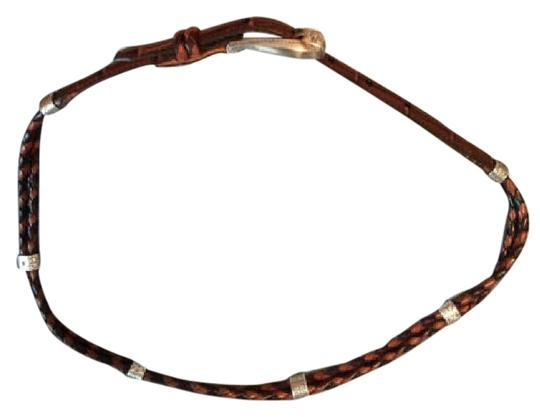 Brighton Brown braided skinny Q5502
