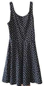 Divided by H&M short dress navy blue with white polka dots on Tradesy