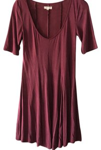 Silence + Noise short dress maroon / red on Tradesy