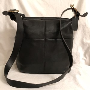 Coach Vintage Leather Handbag Bucket/cross Body Shoulder Bag