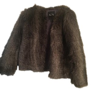 A|X Armani Exchange Fur Coat