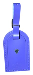 Louis Vuitton BRAND NEW Luggage Tag in Fig (Purple) with Heart Heat Stamp