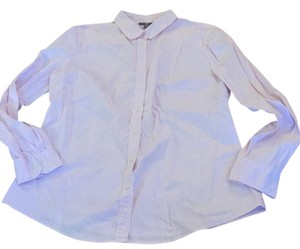 Gap Button Down Shirt pink and white pinstripes