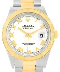 Rolex Rolex Datejust Turnograph Steel Yellow Gold White Dial Watch 16263