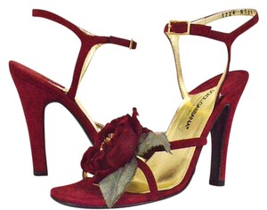Dolce&Gabbana Burgundy Sandals