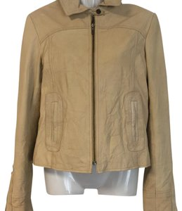 Guess Beige Leather Jacket