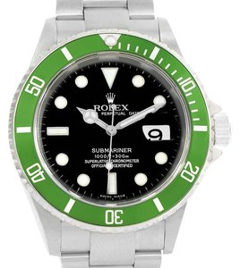 Rolex Rolex Submariner Green Bezel 50th Anniversary Flat 4 Watch 16610LV