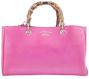 Gucci Bamboo Tote in Pink
