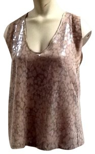 Rebecca Taylor Top Brown, Buff and taupe