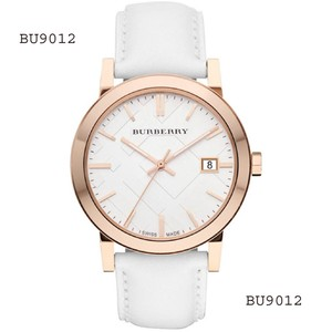 Burberry Burberry Men's Large Check White Leather Strap Watch BU9012