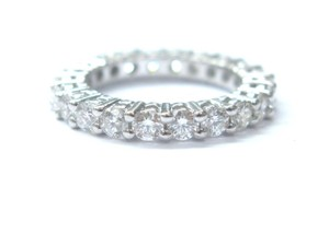 Other Fine Round Cut Diamond Eternity Band Ring White Gold Sz 5.25 1.87CT 2.