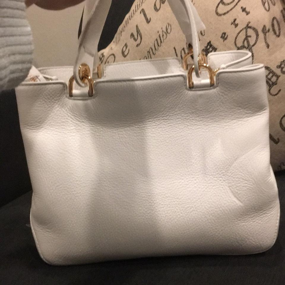 77a4e9ebf261a9 Michael Kors Annabelle White Leather Satchel - Tradesy