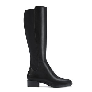 Tory Burch Leather Stretch Black Boots