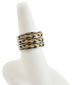 Other 14K Gold Rope & Sterling Silver Ring Size 6.50