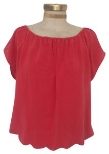 Joie Silk Top Coral
