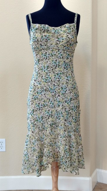 Item - Multicolor Silk Mid-length Cocktail Dress Size 2 (XS)