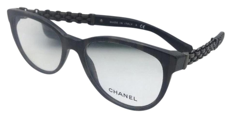 bee5b844a98dc Chanel New 3321-q 1456 53-18 135 Brown Grey Tweed W  Leather Tips W Leather  Sunglasses
