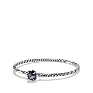 David Yurman Chatelaine Bracelet with Black Orchid 3mm Size Medium $325 NEW