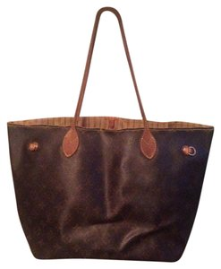 Louis Vuitton Neverfull Mongram Damier Mm Gm Tote in Brown