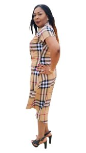 Just Plaid short dress Beige on Tradesy