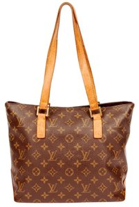 Louis Vuitton Cabas Piano Leather Tote in Monogram