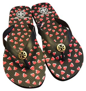 Tory Burch black and red Sandals