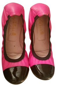 Pretty Ballerinas Ballet Neon Patent Leather French Black/Pink Flats