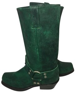 Double-H Boots 6.5 Women 6.5 Motorcycle 6.5 Green Boots