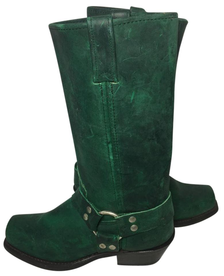 c5e32bbe428 Double boots green harness leather motorcycle women bootsbooties size us  regular jpg 780x960 Green riding boots