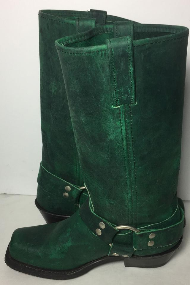 c97ef70ad3f5 Double-H Boots 6.5 Women 6.5 Motorcycle 6.5 Green Boots Image 7. 12345678