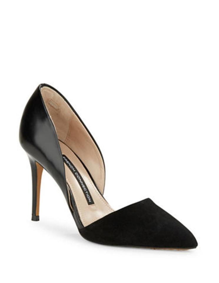 French Connection Suede Black Elvia Leather & Suede Connection D'orsay Pumps e39b9e