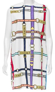 Moschino Monogram Print Sleeveless Shift Dress