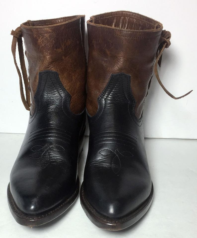 Booties Brown Short Boots Stitch Frye Billy 77762 Cowgirl Cross ycw4fH