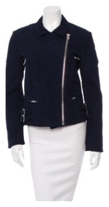 Victoria Beckham Moto Quilted Jacquard Motorcycle Jacket