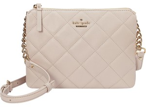 Kate Spade Quilted Chain Gold Cross Body Bag