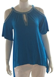 INC International Concepts Sleeveless Fancy Dress Top blue