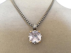 Nordstrom Square Solitaire Cable necklace