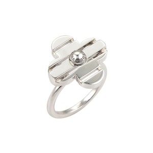 Louis Vuitton Louis Vuitton Petite Fleur 18k White Gold Floral Ring