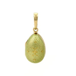 Faberge #20077 Faberge Victor Mayor Enamel 18k Yellow Gold Egg Charm-Opens Up