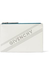 Givenchy Logo Pouch Leather white Clutch