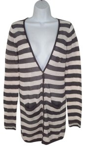 Anthropologie Sheer Striped Cotton Cardigan