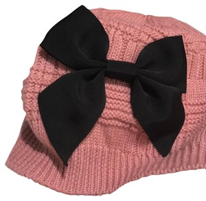 Kate Spade Plaid Beanie with Grosgrain Bow